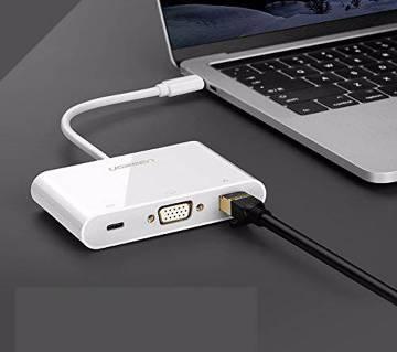 Type-C To USB+VGA+Type-C Adaptor