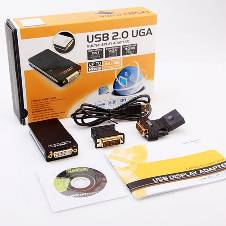 USB 2.0 UGA to VGA DVI HDMI Multi-Display Adapter
