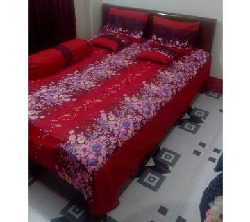 Double Size Twill Cotton Bed Sheet Set of 6 Pieces