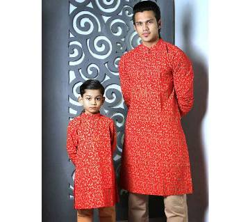 Mens and Kids Panjabi Payjama Set