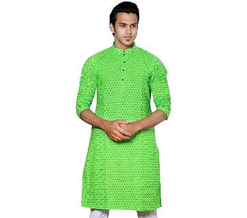 Mens Long Cotton Punjabi