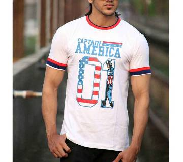 Mens Half Sleeve Cotton T-Shirt