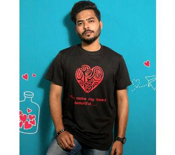 Black Mens T-Shirt for Valentines Day by Ritzy