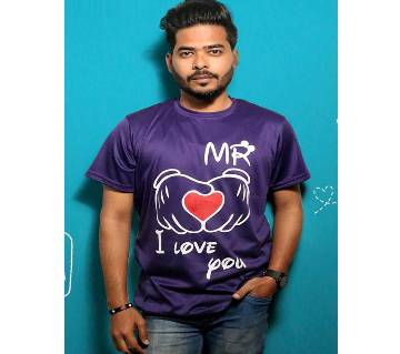 Violet Mens T-Shirt for Valentines Day by Ritzy