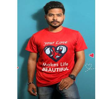 Red Mens T-Shirt for Valentines Day by Ritzy