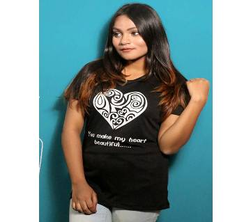 Black Womens T-Shirt for Valentines Day by Ritzy