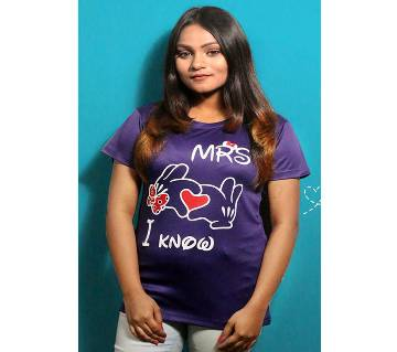 Violet Womens T-Shirt for Valentines Day by Ritzy