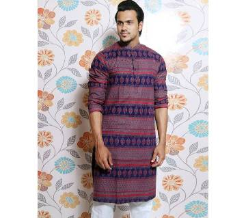 Navy Blue all over printed Panjabi for Men by Ritzy