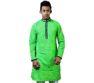 Mens Long Cotton Punjabi