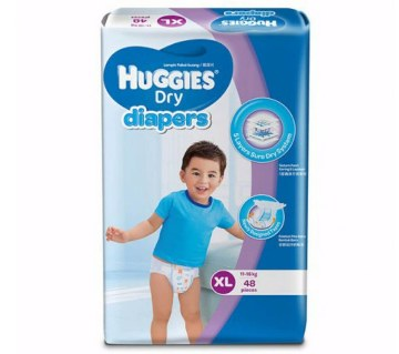 Huggies Dry Diapers -XL-(11-16kg) 48pcs