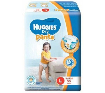 Huggies Dry Pants -L (9-14kg)- 50pcs