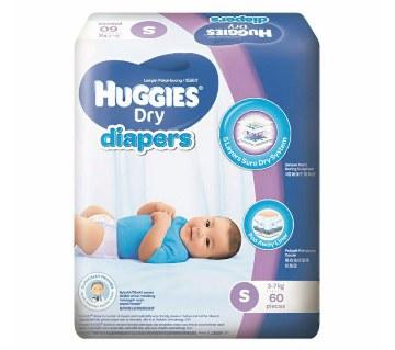 Huggies Dry Diaper-S (3-7 kg)-60pcs