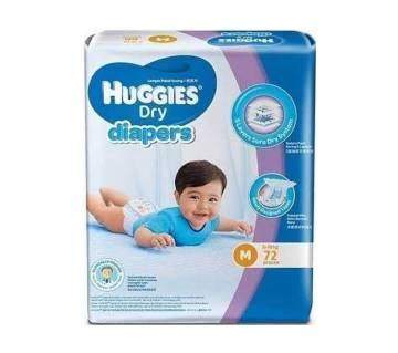 Huggies Dry Diaper (M-72 pcs)