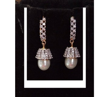 Artificial Pearl Setting Earrings