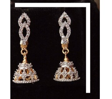 Diamond Cut Stone Setting Jhumka
