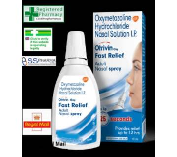 Otrivin Oxy Fast Felief Adult Nasal Spray-10ml Made in india.