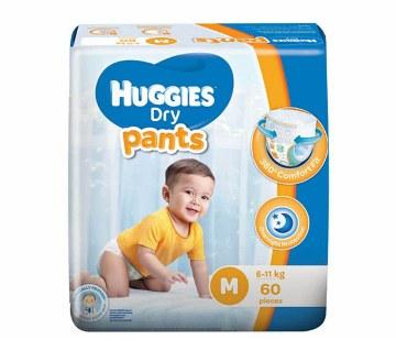 Huggies ড্রাই প্যান্টস M সাইজ (৬-১১ কেজি) - ৬০ পিস