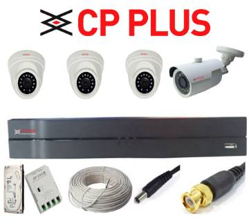 CP PLUS CCTV সিকিউরিটি ক্যামেরা সিস্টেম - 4 Pcs - With 10 Days Recording DVR
