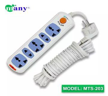 Many 3Pin Socket Multi Plug Model MTS-203=2Pin/2M