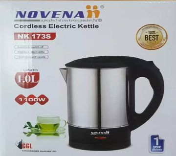 Novena 1 Litre Cordless Electric Kettle Steel body
