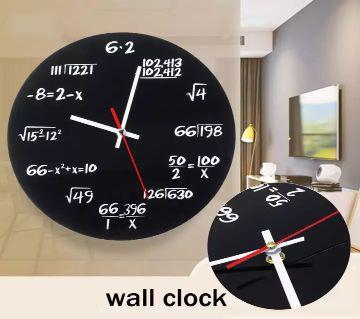 Black Metal Mathematics Math Algebra Blackboard Pi Wall Clock -