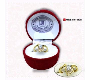 Diamond cut stone setting Finger Ring