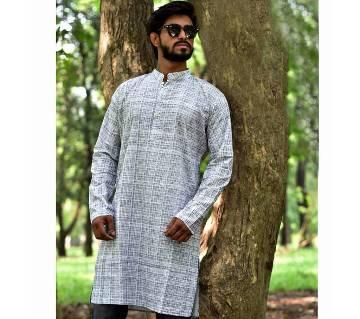 Mens Contrast Cotton Punjabi