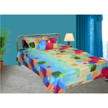 HOME TEX Cotton King Size Bedsheet Set.