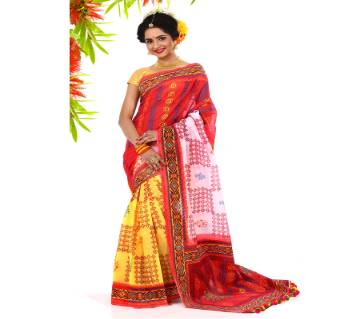 pure 3 sheed muslin silk saree