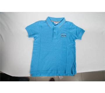 Half sleeve cotton polo shirt for baby boy