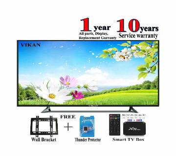 vikan 32 inch led tv + smart / android tv box x 96 mini 2 gb ram , rom 16 gb