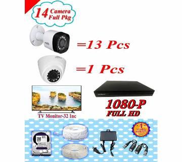 Dahua 14 CC Camera Pakage + Tv Monitor 32 inch Pkgdah-118