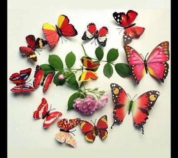 Butterfly Wall Sticker- 12 Pcs