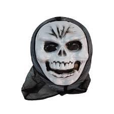 Scary Skeletal Mask - White and Black