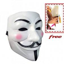 Vendetta Mask with free LED Ear Pick For Kids