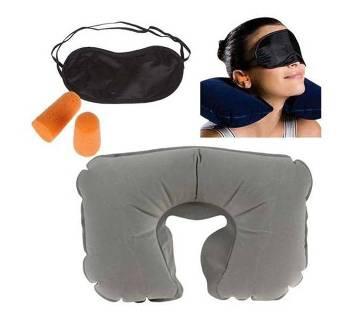 3 In 1 Travel pillow set - multicolour