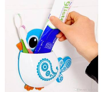 Plastic Cute Bird Toothbrush Holder