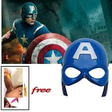Captain America LED Mask with free Ear Pick