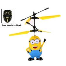 Flying Minion Helicopter Kids Toy with free Vendetta Mask