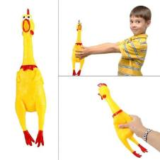 Funny Squawking Chicken Toy - Yellow