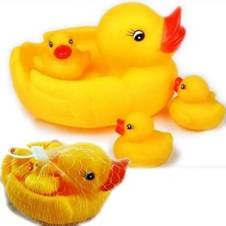 Rubber Duckies Bath Toys- Yellow