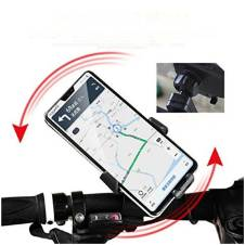 Cycle Phone Holder with Support Stand Mount - Black