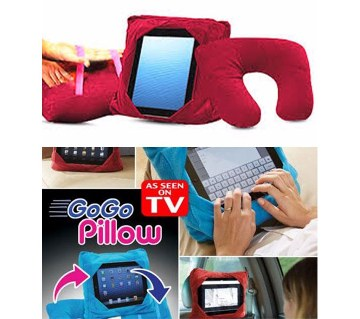 Multifunctional red Travel pillow