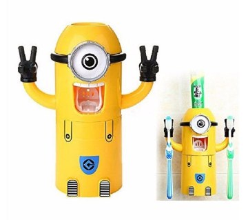 Minion Toothpaste Dispenser and brush holder