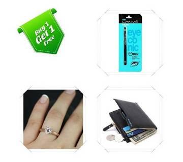 Buy One Finger Ring & Bogesi wallet and Get One LAKME Kajal