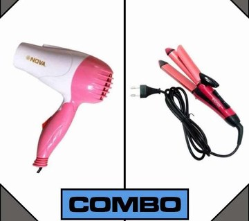 Nova 2 in 1 hair straightener and dryer combo