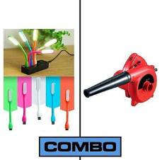 Combo Of Portable Hand Air Blower 600W Plus USB Portable LED Light
