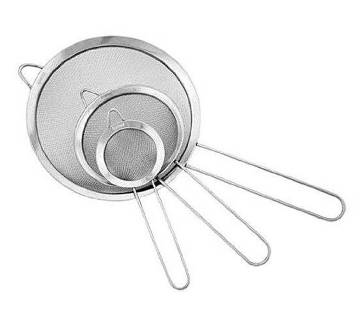 Stainless Steel Stainer - 3Pcs - Silver