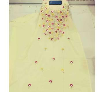 Unstitch Weightless Georgette & Embroidery Single Piece Kurti