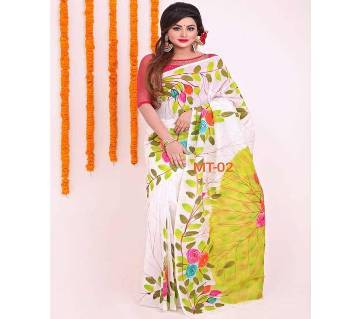 Indian Skin Print Emboidery Saree